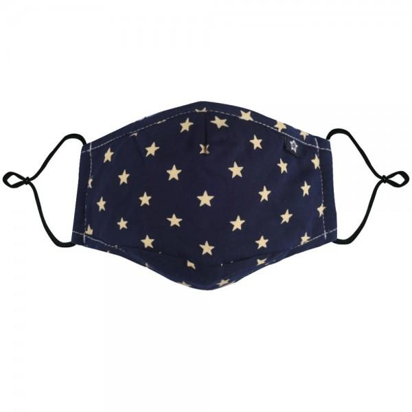 Mundschutz-Maske, waschbar - dunkelblau