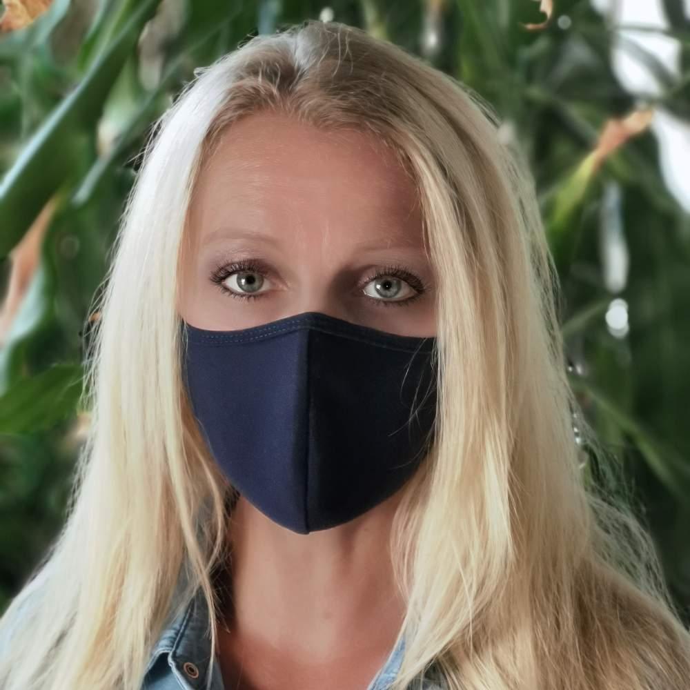 stoffmaske dunkelblau filter