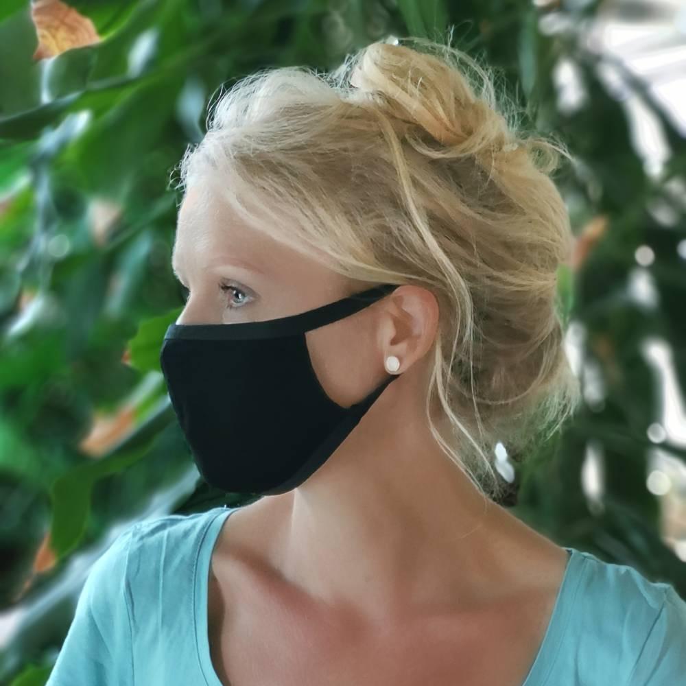 waschbare stoffmaske, schwarz