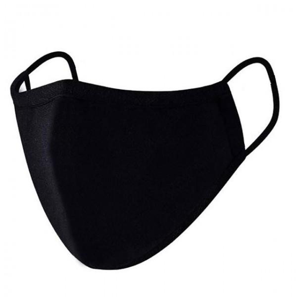 Mund-Nasenmaske, 5 Stück, schwarz